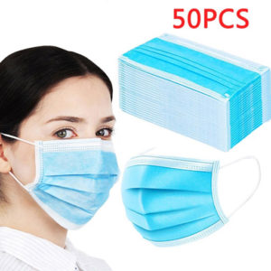 General Public Use 3 Ply Face Mask Pack of 50
