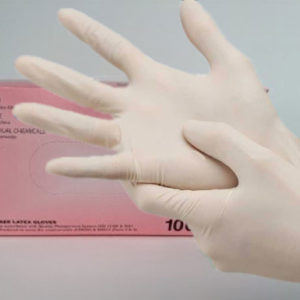 Protective Powder Free Latex Hand Gloves